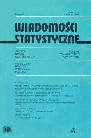 Sytuacja dzieci obszaru pogranicza wschodniego, w: Wiadomości Statystyczne, 5/ 2000