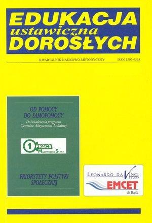 Polityka społeczna wUnii Europejskiej w: Edukacja ustawiczna dorosłych 2/2002