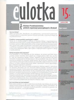 O potrzebie obywatelskiej polityki społecznej wPolsce w: EUlotka, 14/ 15, Klon - Jawor 2005.