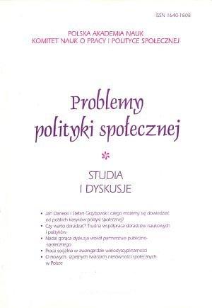 Europejski model społeczny – wkierunku welfare system w: Problemy Polityki Społecznej 10/2007.
